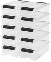 Iris 5.7 Qt. Stack and Pull Modular Latch Box