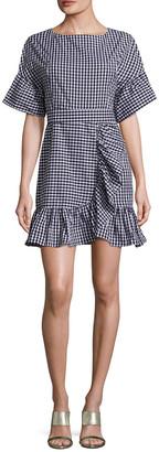 1st Sight Printed Stripes Cotton Dress