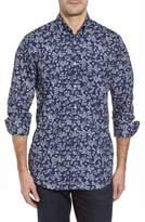 Paul & Shark Regular Fit Flower Print Sport Shirt