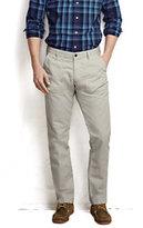 Lands' End Men's Cotton Blend Utility Pants-Black