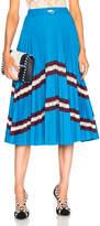 Valentino Pleated Jersey Skirt