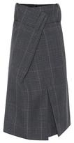 Balenciaga Plaid wool skirt