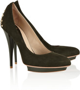 McQ by Alexander McQueen Studded suede pumps