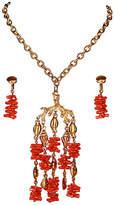 One Kings Lane Vintage Trifari Faux-Coral Necklace & Earrings