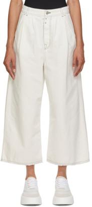 MM6 MAISON MARGIELA Off-White Denim Wide-Leg Trousers