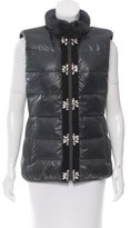 Glamour Puss Glamourpuss Fur-Trimmed Down Vest w/ Tags