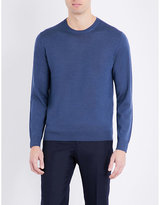 Gieves & Hawkes Gieves & Hawkes Crewneck Wool And Cashmere-blend Knitted Jumper