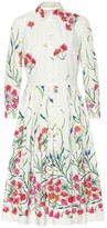 Carolina Herrera Printed cotton poplin dress