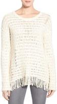 Pam & Gela Fringe Open Back Sweater