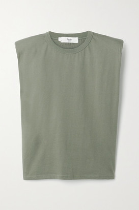 Frankie Shop Eva Cotton-jersey Tank - Army green