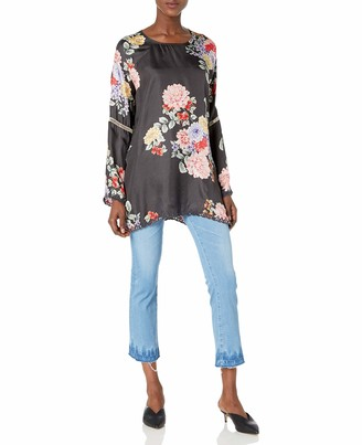 Johnny Was Women's Floral Printed Silk Blouse