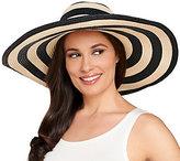 Denim & Co. Beach Stripe Hat