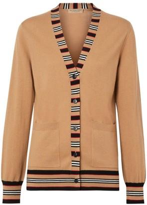 Burberry Cauca Merino Wool Stripe Cardigan