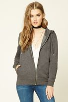 Forever 21 Fleece Zip-Up Hoodie
