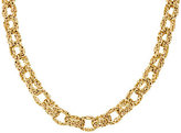 """QVC As Is 14K Gold 18"""" Bold Byzantine Rolo Link Necklace, 36.0g"""