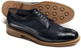 Charles Tyrwhitt Navy Tavistock wingtip brogue shoes