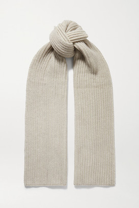 Loro Piana Two-tone Ribbed Cashmere Scarf - Gray