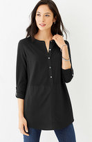 J. Jill Mixed-Media Tab-Sleeve Tunic