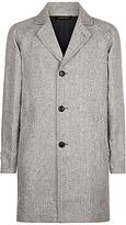Jaeger Linen Overcoat, Black/white