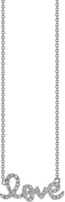 The Alkemistry Sydney Evan Love script 14ct white gold and diamond necklace