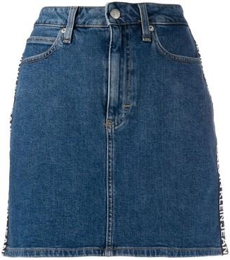 Calvin Klein Jeans logo denim skirt