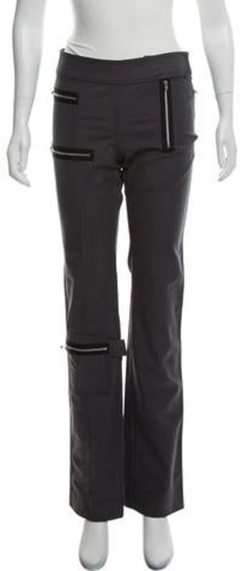 Joseph Mid-Rise Straight-Leg Pants Grey Mid-Rise Straight-Leg Pants