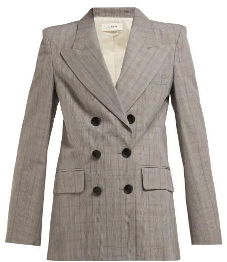 Etoile Isabel Marant Iliane Checked Blazer - Womens - Light Grey