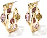 """RJ Graziano Glow On"""" Colored Crystal Inside-Outside Hoop Earrings"""