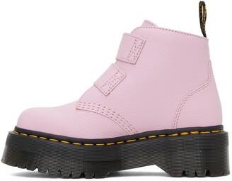 Dr. Martens Pink Devon Heart Platform Boots
