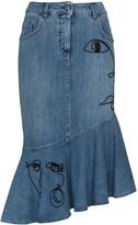Moschino high-waisted embroidered skirt