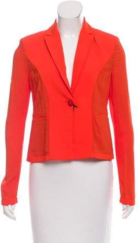 Gianni Versace Structured Chiffon-Paneled Blazer