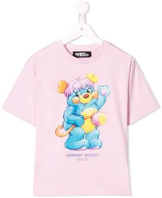 Jeremy Scott Junior logo bear print T-shirt