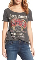 Lucky Brand Women's Distressed Jack Daniels Tee