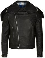 Givenchy Leather Biker Shearling Jacket
