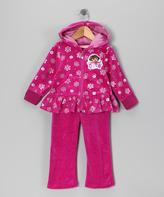Children's Apparel Network Dora the Explorer Purple Zip-Up Hoodie & Pants - Toddler & Girls