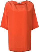 Jil Sander three-quarters sleeve blouse - women - Silk/Polyester/Viscose - 34