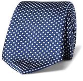 Canali 8cm Polka-dot Silk-jacquard Tie - Blue