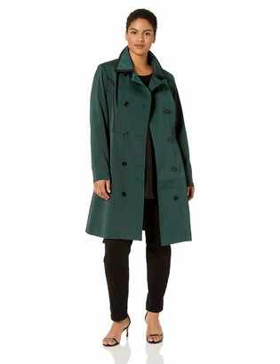 City Chic Women's Apparel Women's Plus Size Detailed lace Back Trench Coat