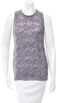 Just Cavalli Sleeveless Open Knit Sweater
