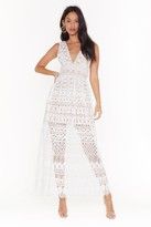 Nasty Gal Womens In Lace of Emergency Midi Dress - white - S