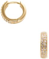 Rebecca Minkoff Pave Huggie Hoop Earrings