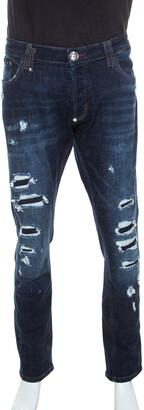 Philipp Plein Blue Denim Super Straight Cut Snatch Jeans 3XL