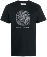 Société Anonyme scribble logo T-shirt