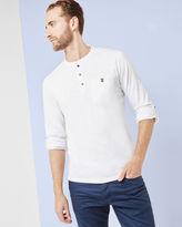 ENRY Henley neck long sleeved Tshirt