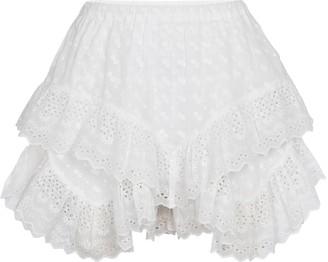 Etoile Isabel Marant Teocadia ruffled cotton shorts