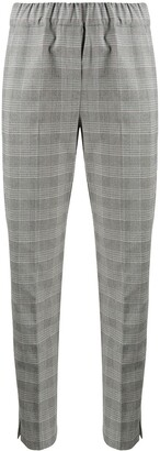 D-Exterior Check Tailored Trousers