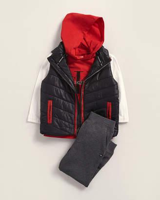 Calvin Klein Jeans Toddler Boys) 3-Piece Full-Zip Puffer Vest & Fleece Joggers Set
