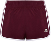 adidas Icon Climalite Striped Shell Shorts - Merlot