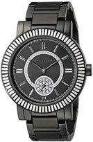 Vince Camuto Women's VC/5199BKBK Swarovski Crystal Accented Black Bracelet Watch