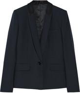 Helmut Lang Faille-trimmed stretch-wool blazer